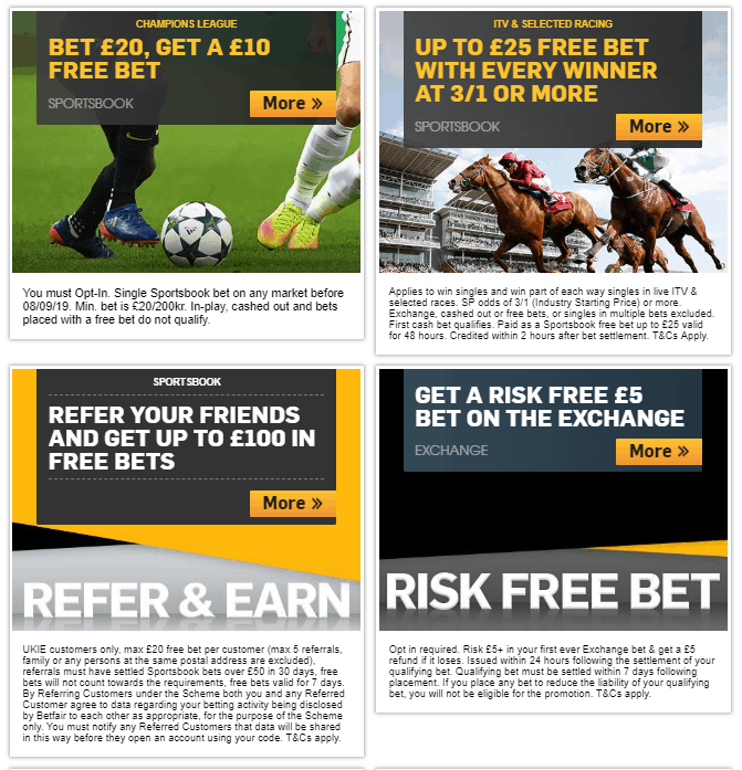 Betfair Horse Racing Review - Up to £100 in Free Bets